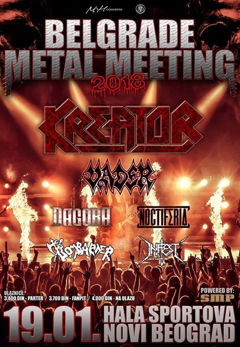 Belgrade metal meeting 19. januara u hali Ranko Žeravica